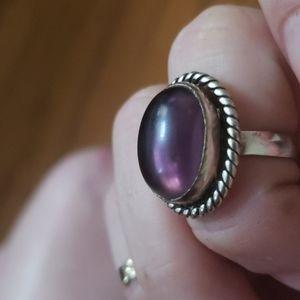 Sterling/Amethyst ring